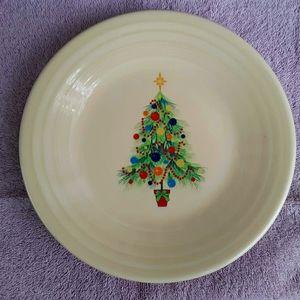 Christmas Fiestaware plate